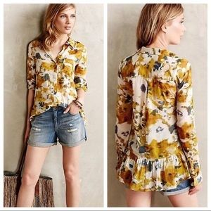 Anthropologie Holding Horses Button Up Blouse 14